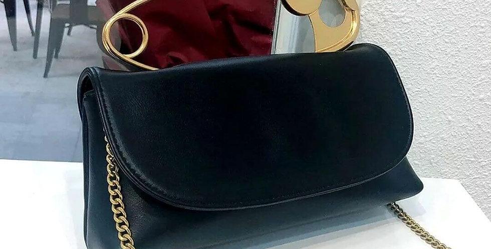 Designer Leather Chain Cross-body Handbag