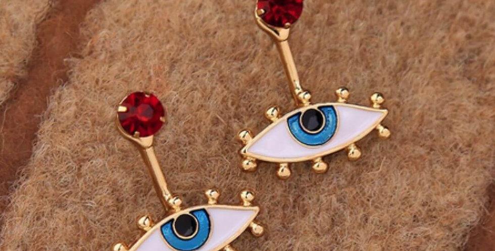 New Personality Eye Metal Drop Earrings