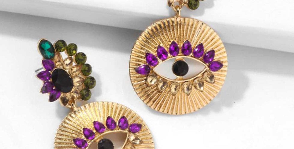 Exaggerated Eye Geometric Statement Earrings