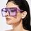 Thumbnail: Luxury Brand Fashion Colorful Clear Lens Sunglasses