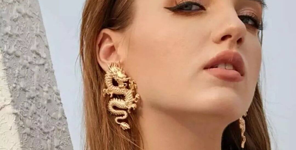 Dragon Fashion Stud Earrings