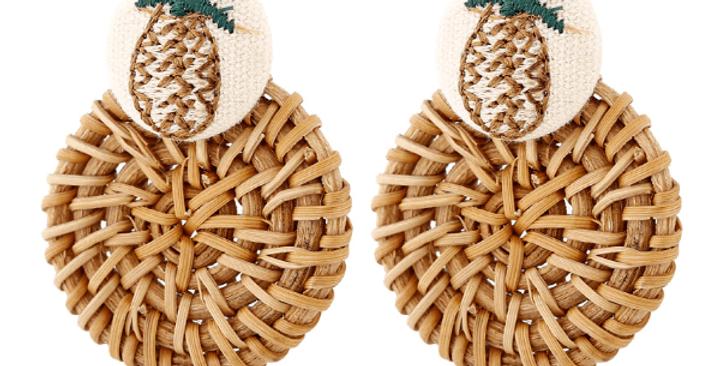 Handmade Bohemian Wooden Drop Earrings