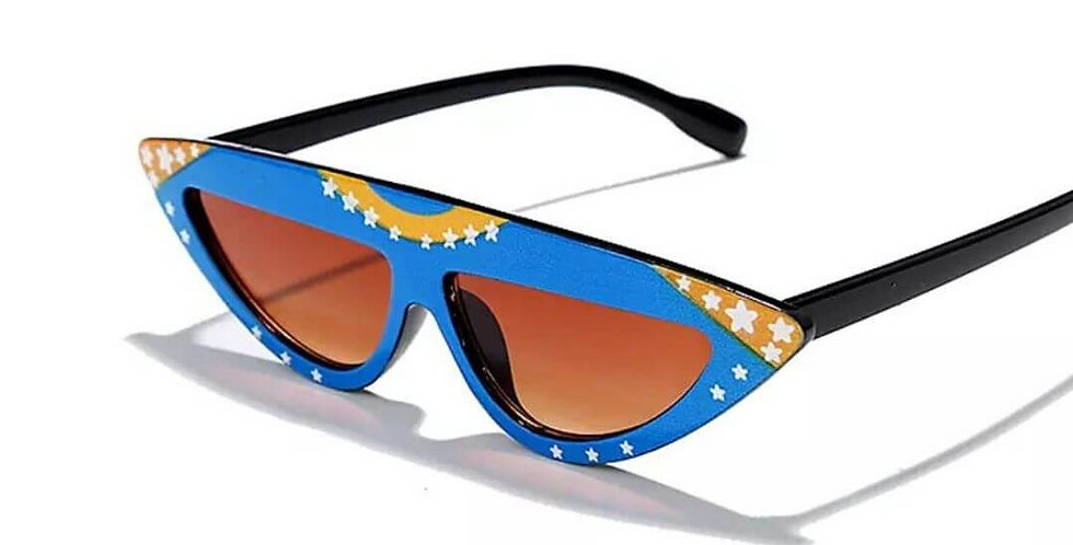 Colorful Cat Eye Retro Triangular Sunglasses