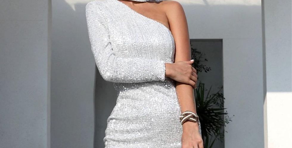 Sexy One Shoulder Sequin Dress