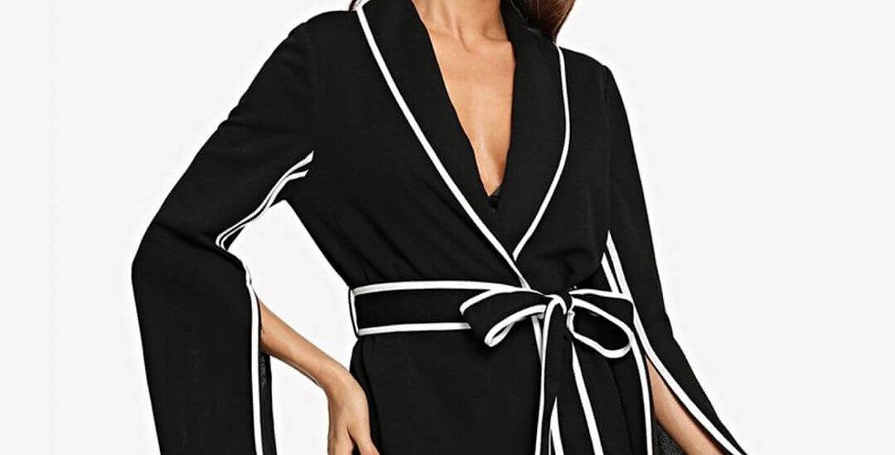 Elegant Slit Sleeve Blazer