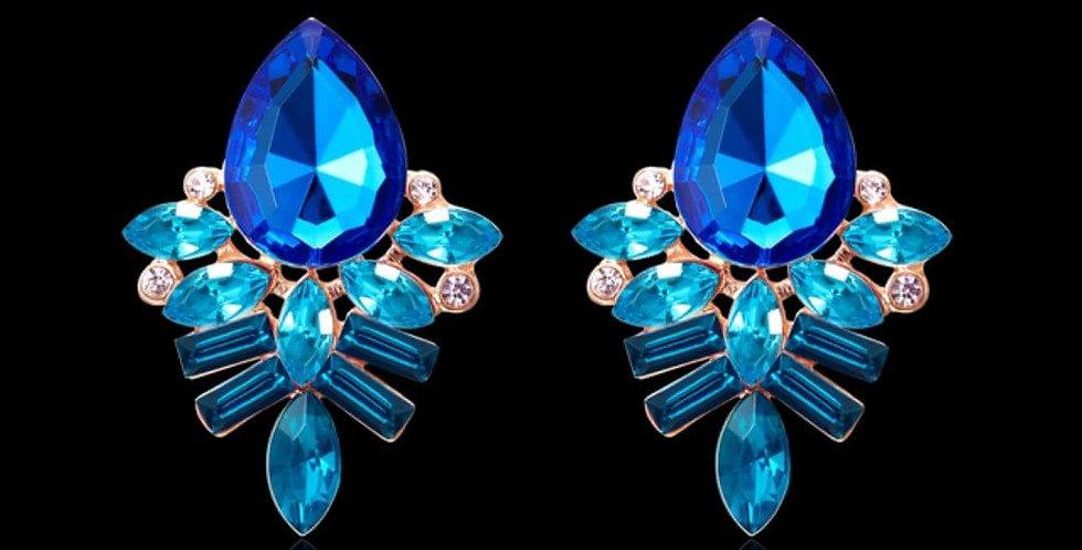 Handmade Rhinestone Stud Crystal Dangle Earrings