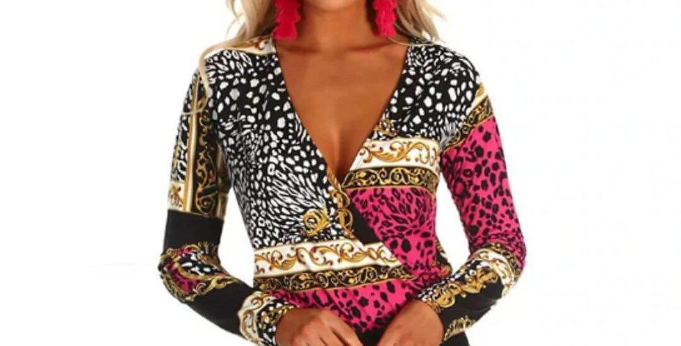 Leopard Print Fashion Bodysuit