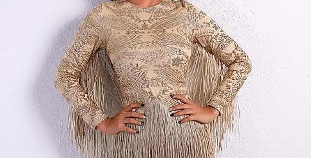 Glitter Elegant Gold Dress