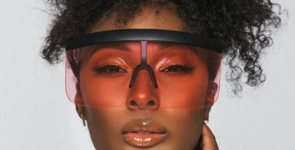 Fashion Brand Goggle Shield Frame Sunglasses