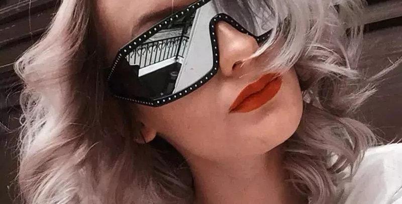 Luxury Brand Designer Diamond Frame Sunglasses