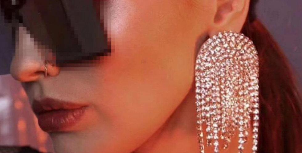 Luxury Shiny Rhinestone Dangle Earrings
