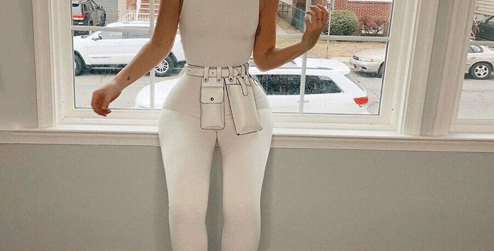 Elegant High Stretch Skinny Jumpsuit