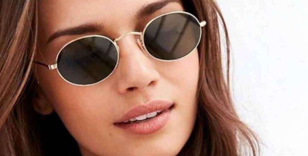 Oval Luxury Retro Metal Sunglasses