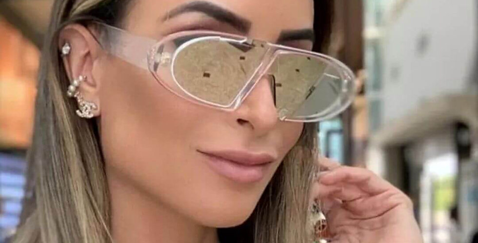 Oval Frame Shades Fashion Sunglasses