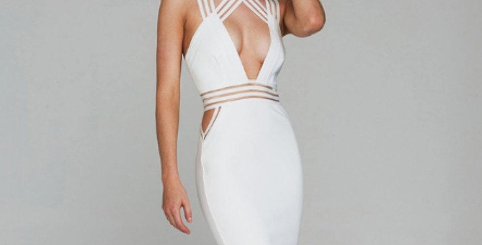 Spaghetti Strap Knee Length Dress