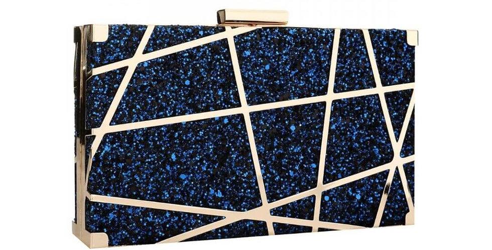 Gold Acrylic Lattice Clutch Bag