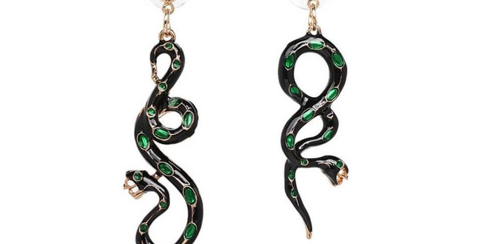 Snake Shaped Drop Dangle Earrings