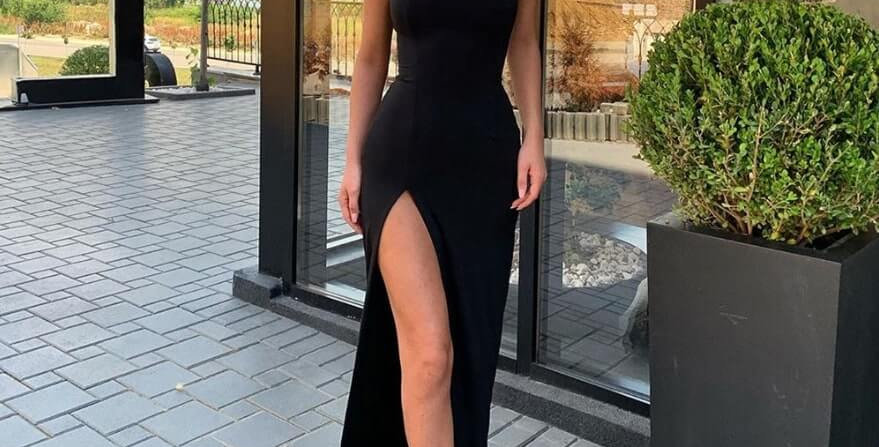 Sleeveless Spaghetti Split Maxi Dress
