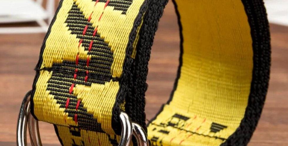 Fashion Personality Letter Yellow Belt