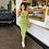 Thumbnail: New Green Ruched Backless Elastic Dress