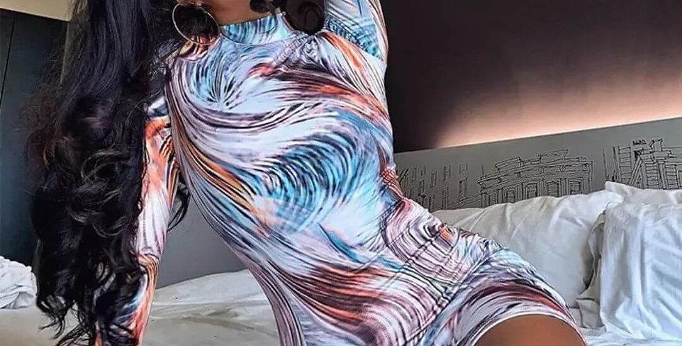 Boho Print Sheath Fashion Dress