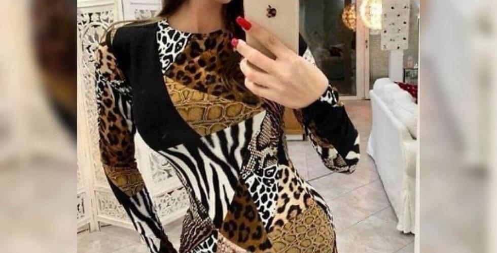 Leopard Print Stylish Dress