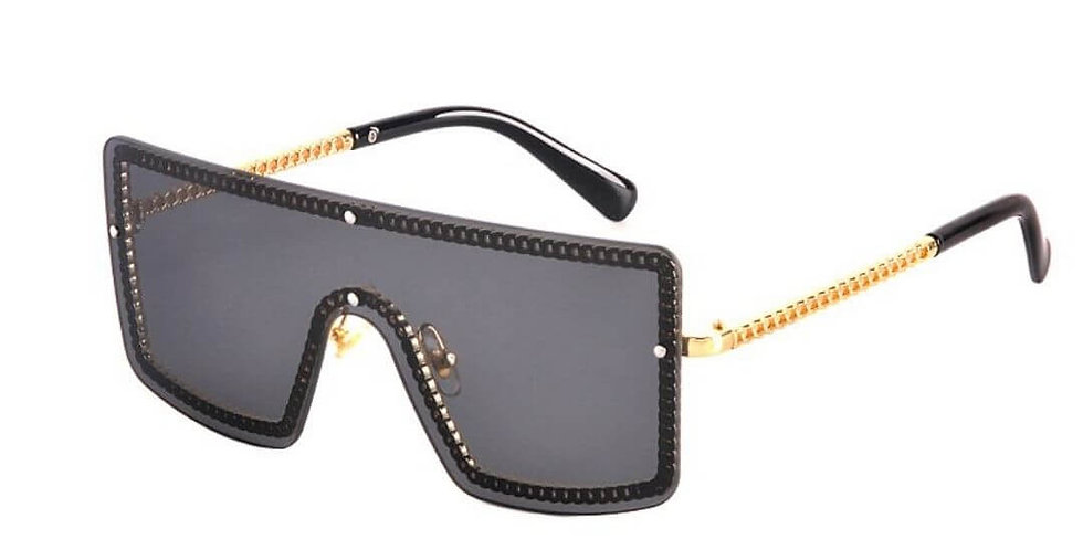 Fashion Square Luxury Gradient Sunglasses