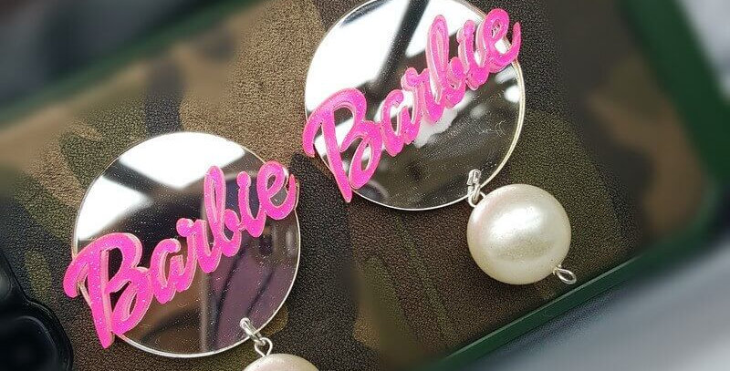 Barbie Acrylic Pearl Drop Earrings