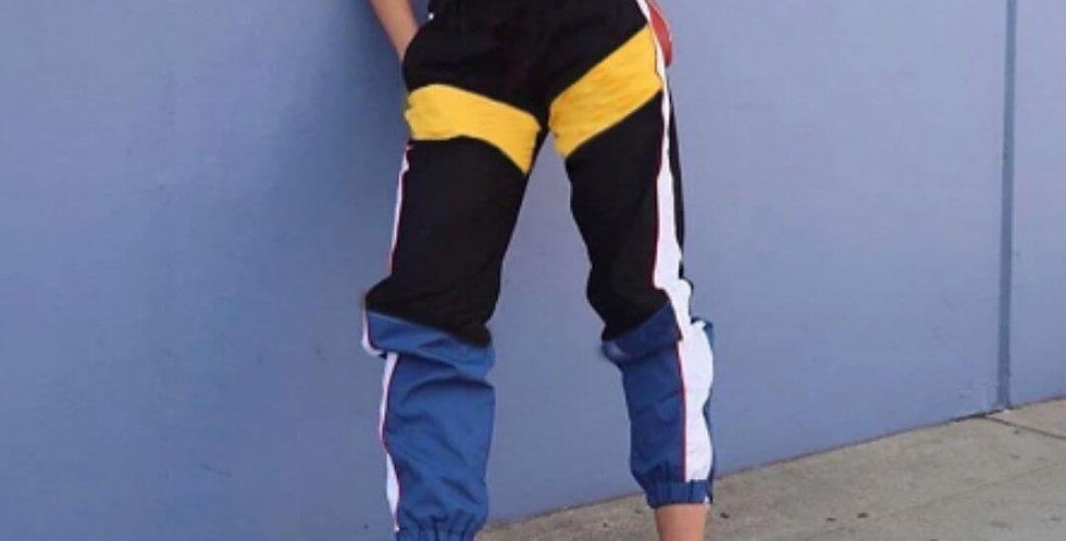 High Elastic Waist Side Striped Jogger Pant