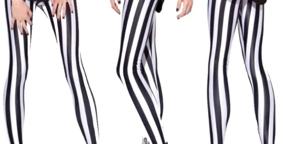 Fashion Black & White Strip Legging