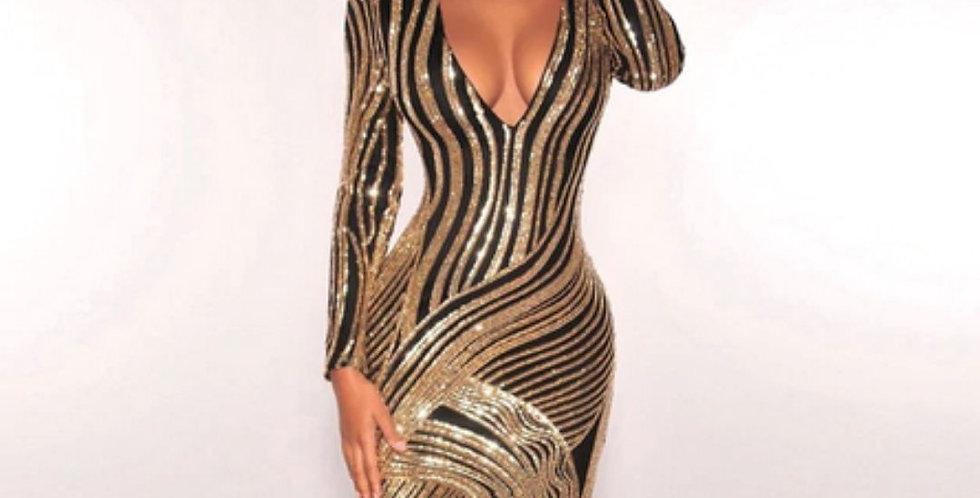 New Style Striped Sheath Dress