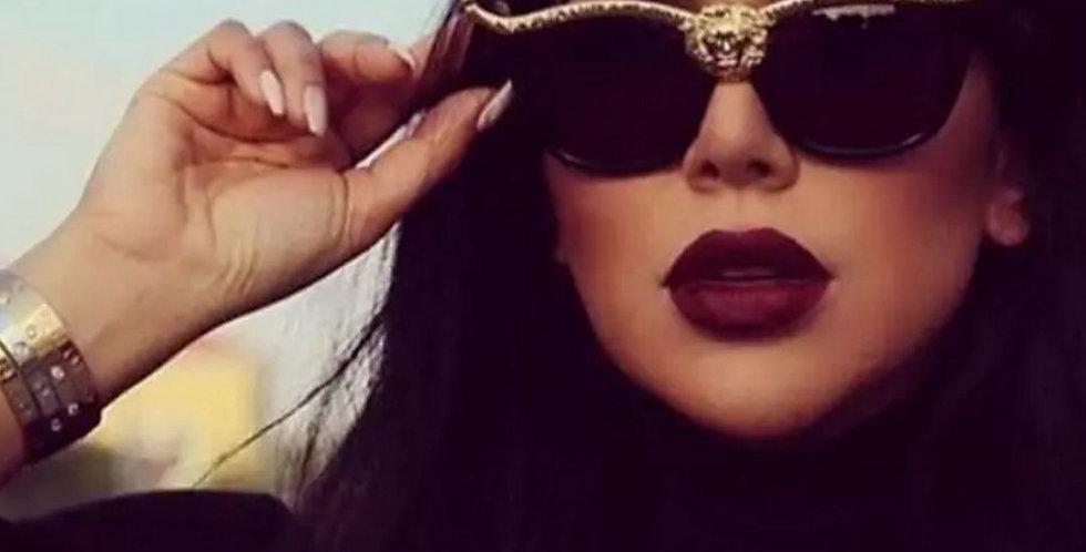 Lion Head Luxury Over-sized Sunglasses