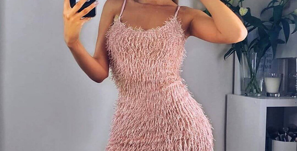 Hairy Sexy Body-con Party Dress