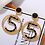 Thumbnail: Five Shape Maxi Round Statement Earrings