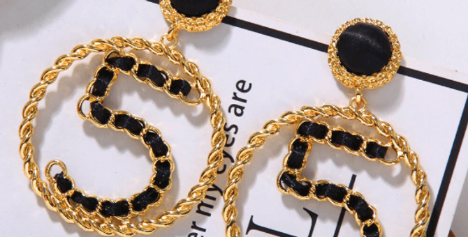 Five Shape Maxi Round Statement Earrings