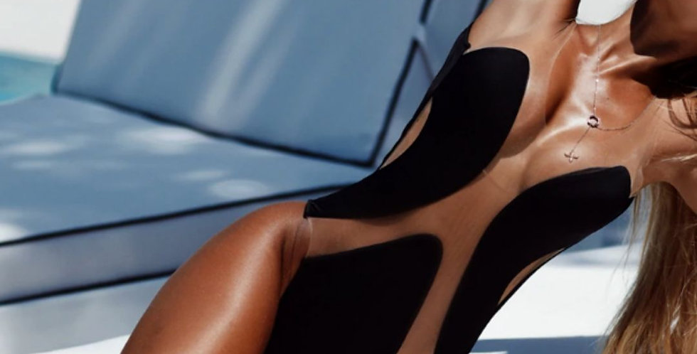 Sexy Mesh Transparent Bikini Swimsuit