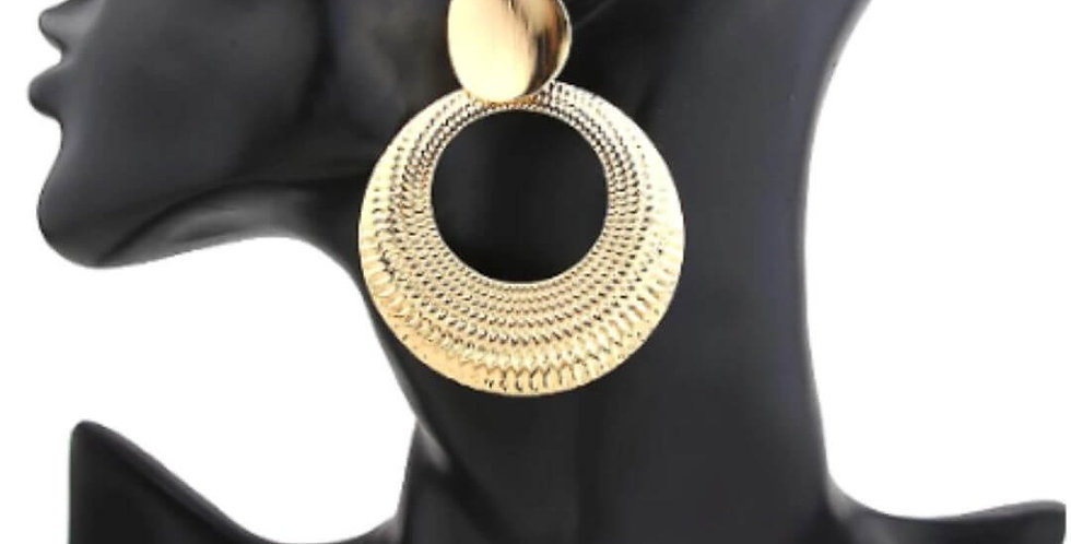 Big Round Circle Dangle Earrings