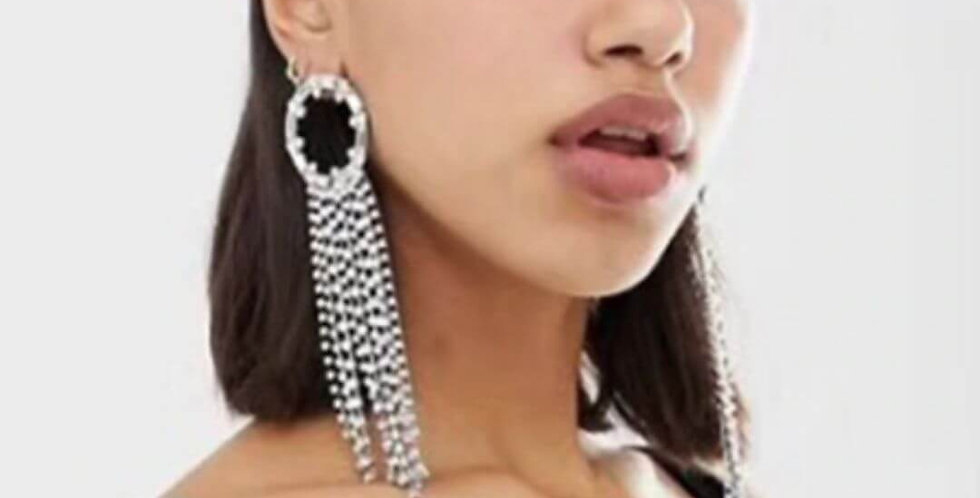 Fashion Design Crystal Tassel Earrings