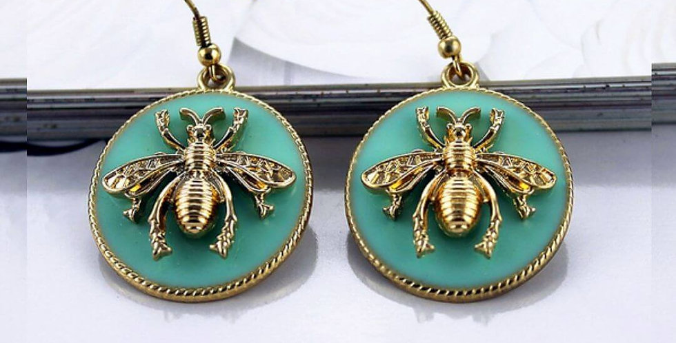 Fashion Bee Light Green Earrings