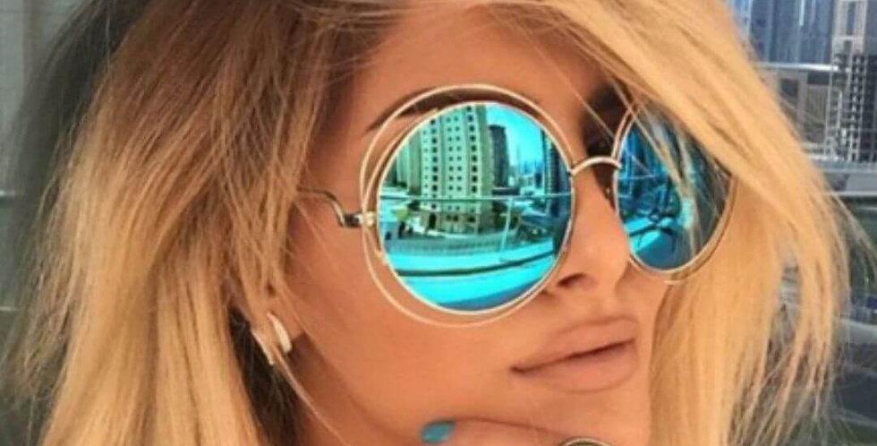 Luxury Brand Vintage Round Sunglasses