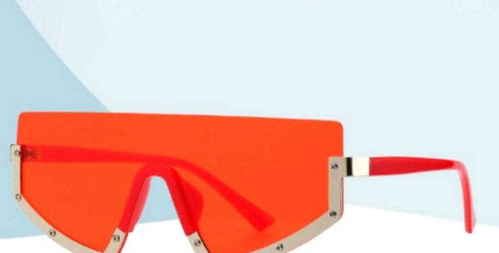 Vintage Semi-Rimless Sunglasses