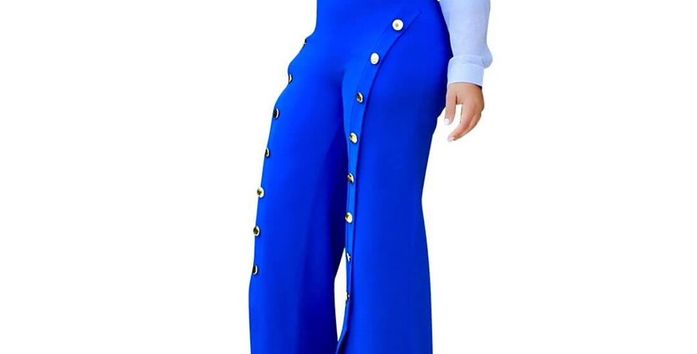 High Waist Wide Leg Full Length Pant