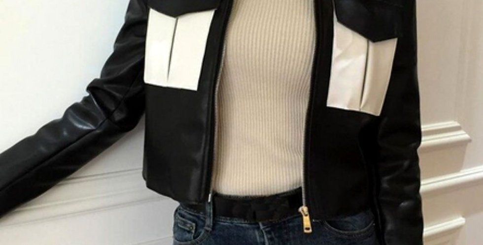 Fashion PU Faux Leather Jacket