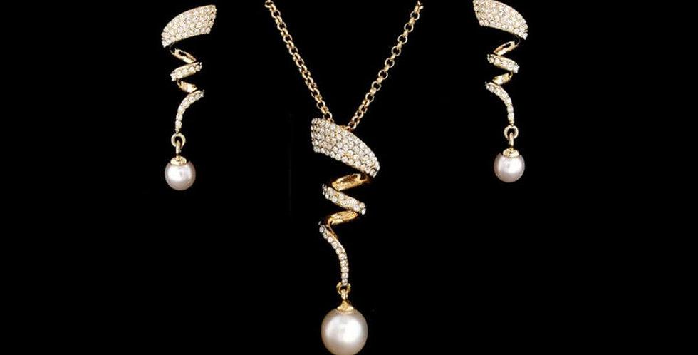 Elegant Simulated Pearl Jewelry Set