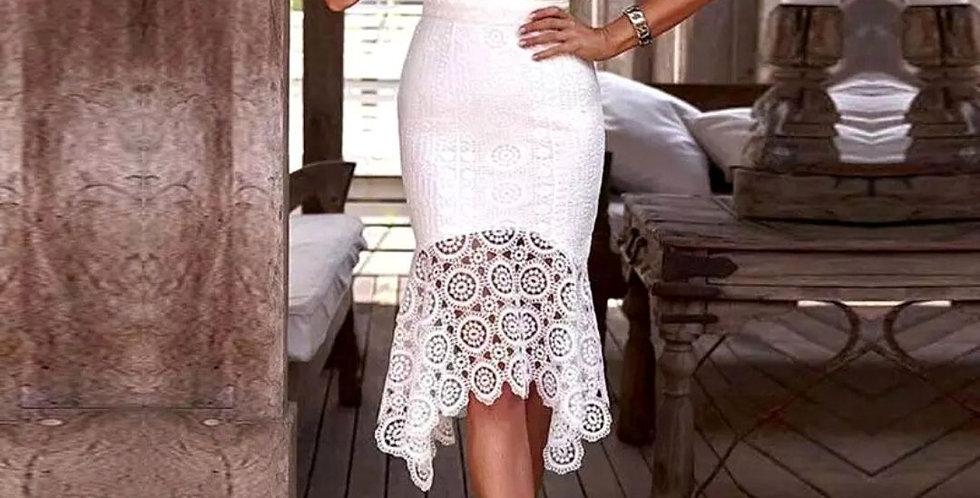 Elegant Hollow Out Crochet Dress