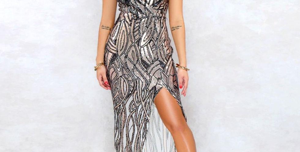 Evening High Waist Split Dress