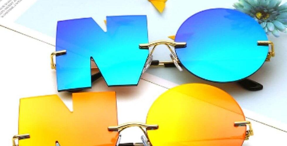 Letter NO Luxury Brand Designer Sunglasses