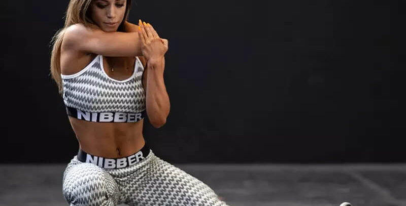 Nibber Sleeveless Fitness Stripped Tracksuit