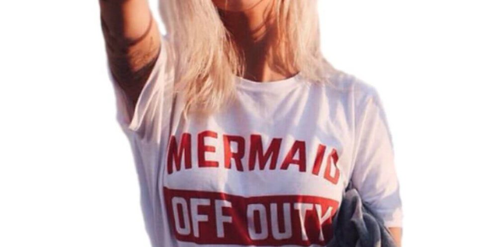 Mermaid Off Duty Stylish T-Shirt