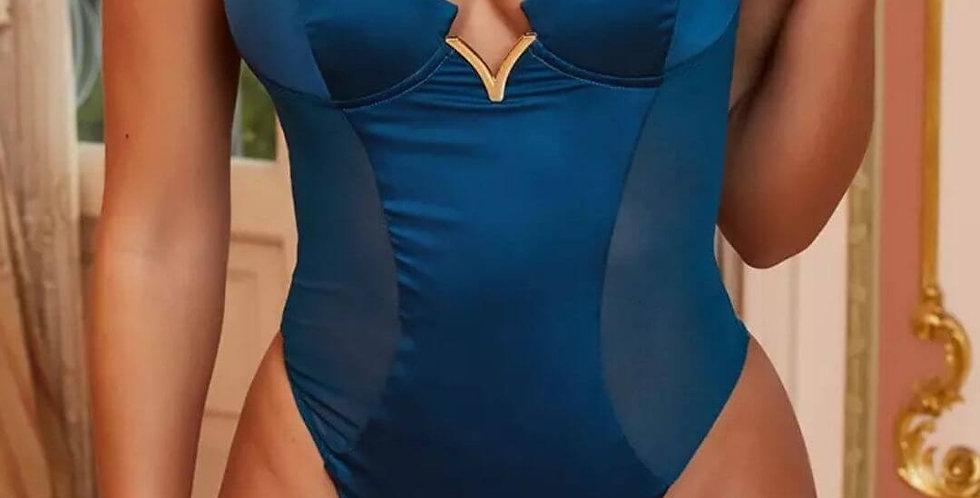 Silk Spaghetti Strap Club Bodysuit